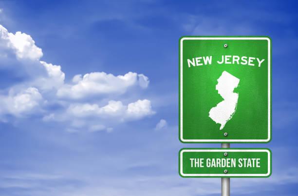 New Jersey-New Jersey Highway schild-Illustration – Foto