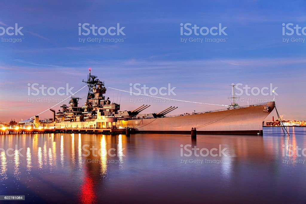USS New Jersey stock photo