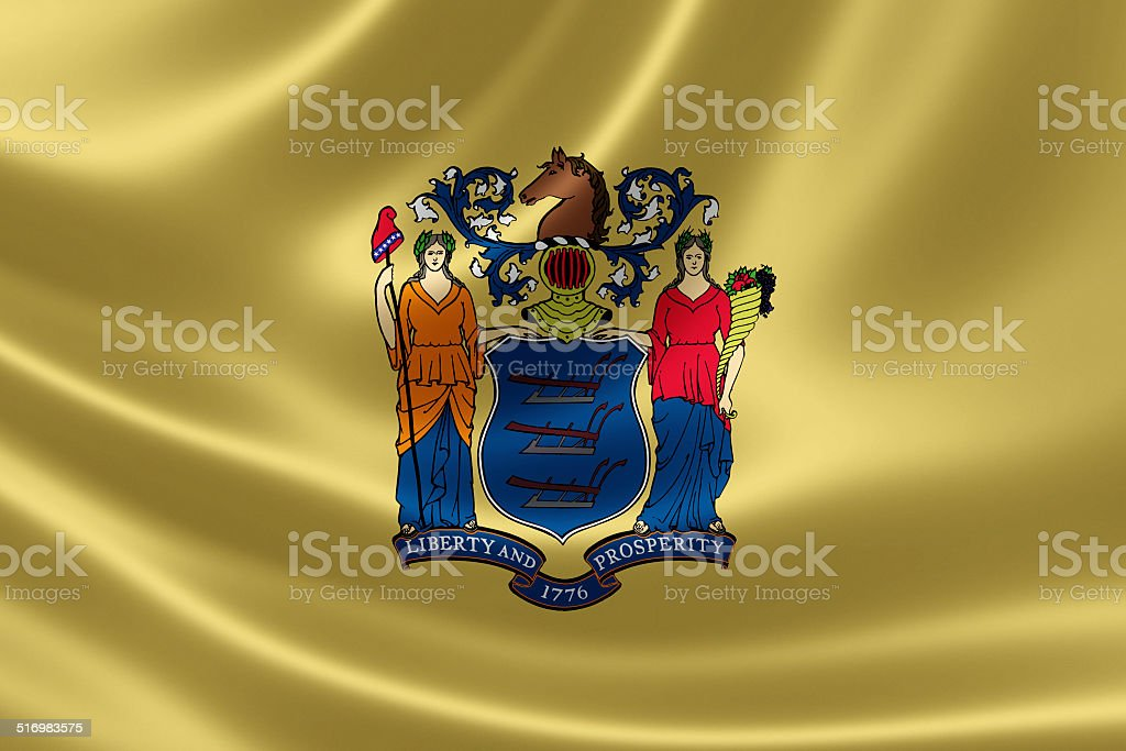 New Jersey State Flag stock photo