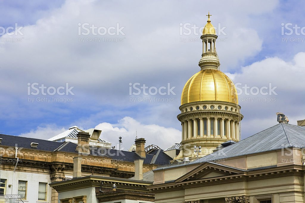 New Jersey State House Dome and Top of Statehouse royalty-free stock photo