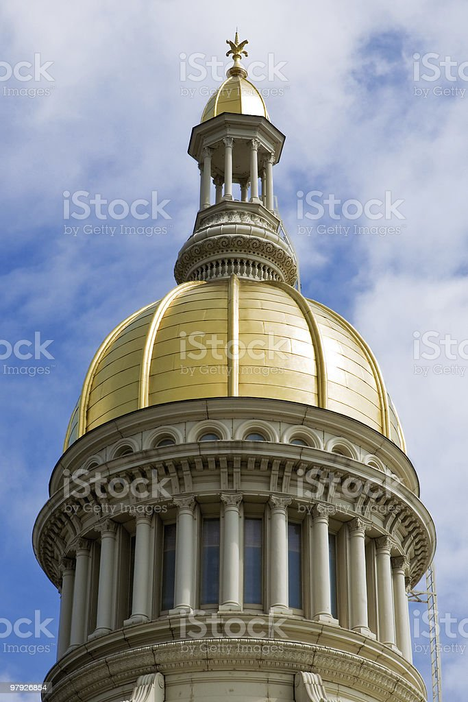 New Jersey State House Dome Closeup royalty-free stock photo