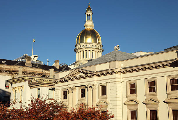 New Jersey State House Warm afternoon light on the New Jersey State House state capitol building stock pictures, royalty-free photos & images