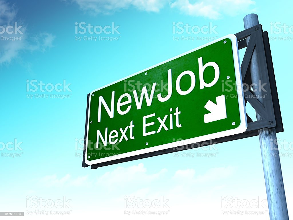New job next exit royalty-free stock photo