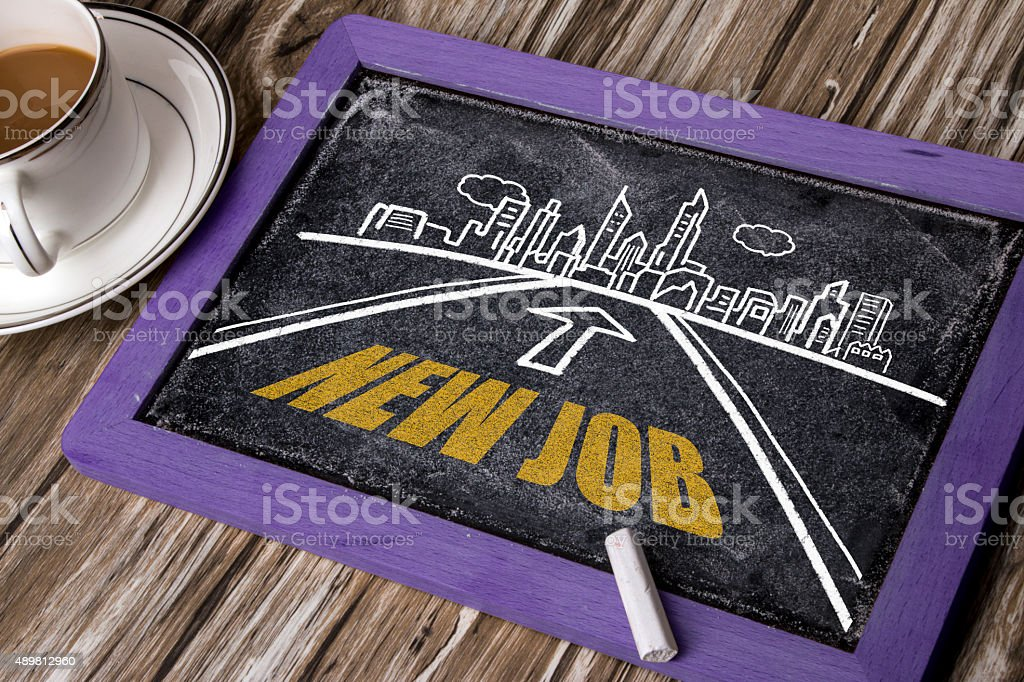 new job on the road stock photo