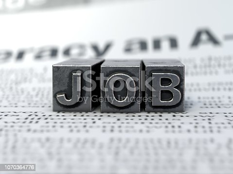 839809942 istock photo New Job, type text 1070364776