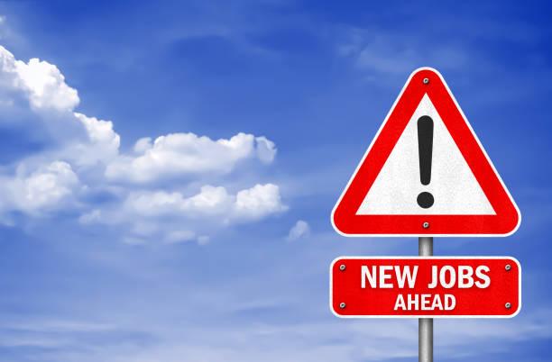Neue Jobs vorn - Verkehrszeichen-Meldung – Foto