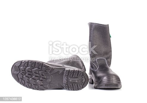 New kersey boots. Isolated over white background. Close-up.