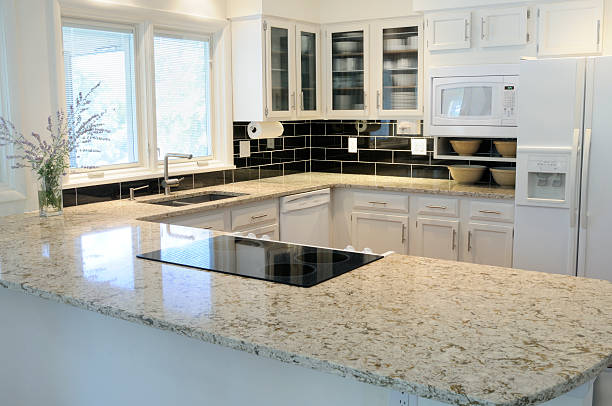 New Kitchen Modern, open kitchen. quartz stock pictures, royalty-free photos & images