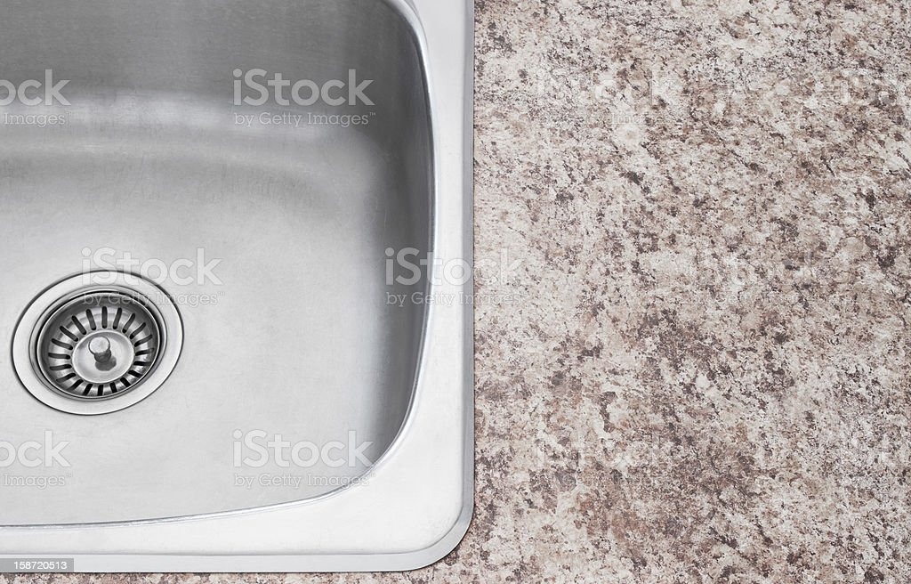 New kitchen sink and countertop detail royalty-free stock photo