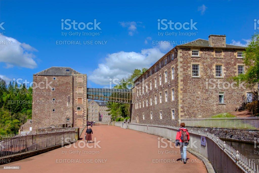 New Lanark, Scotland stock photo