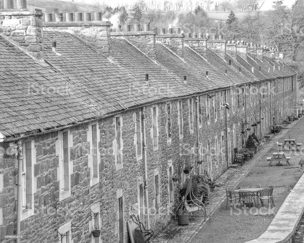 New Lanark World Heritage Site stock photo