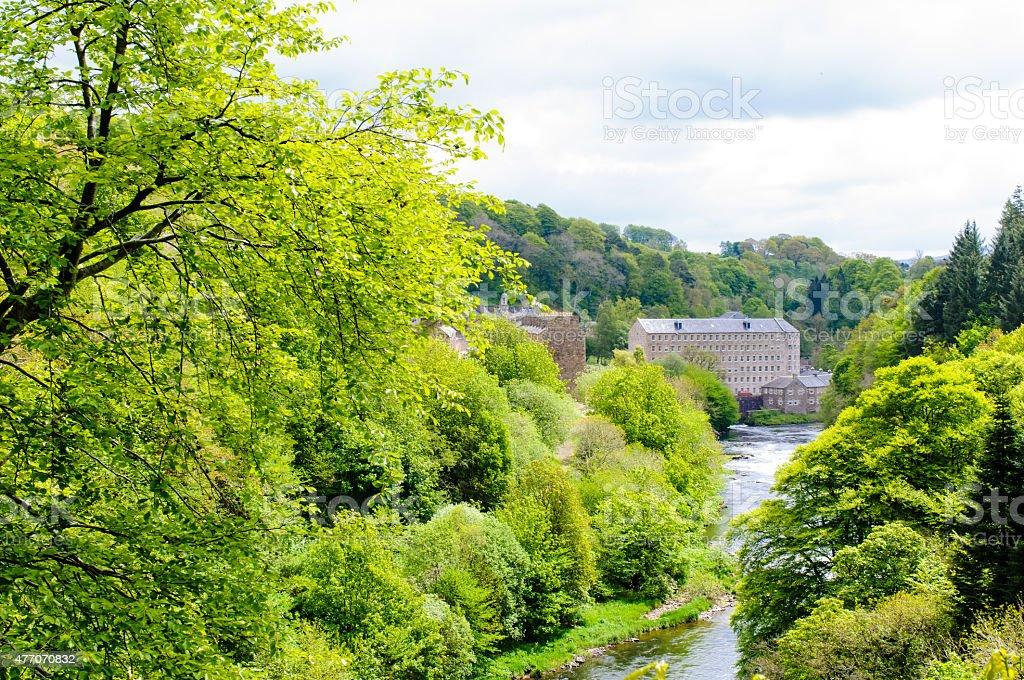 New Lanark World Heritage Site, Scotland stock photo