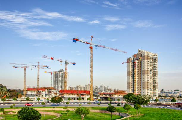 A new land development project Unik Top in process in Rishon LeTsiyon stock photo