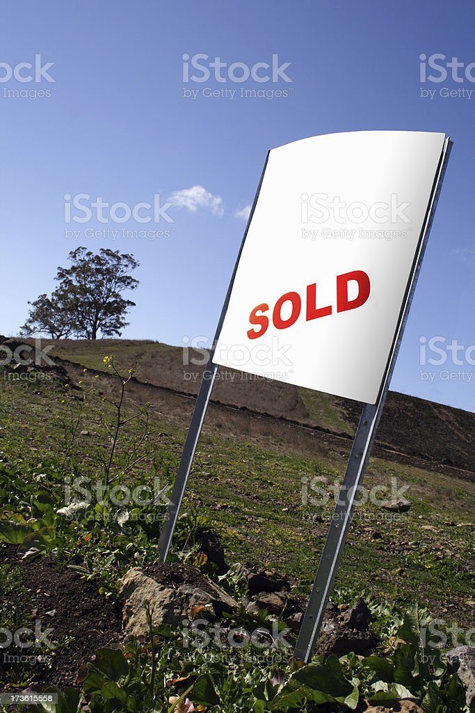 new land sale:  with clipping path royalty-free stock photo