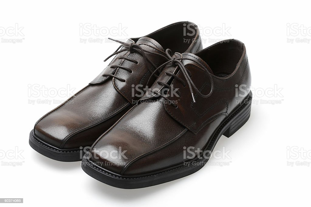 New leather shoes royalty-free stock photo