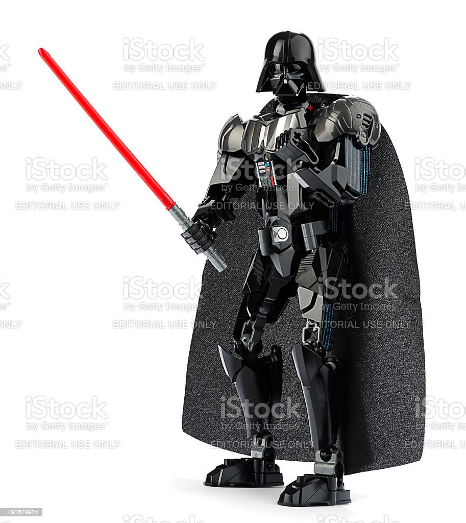 New LEGO Darth Vader with Lightsaber stock photo