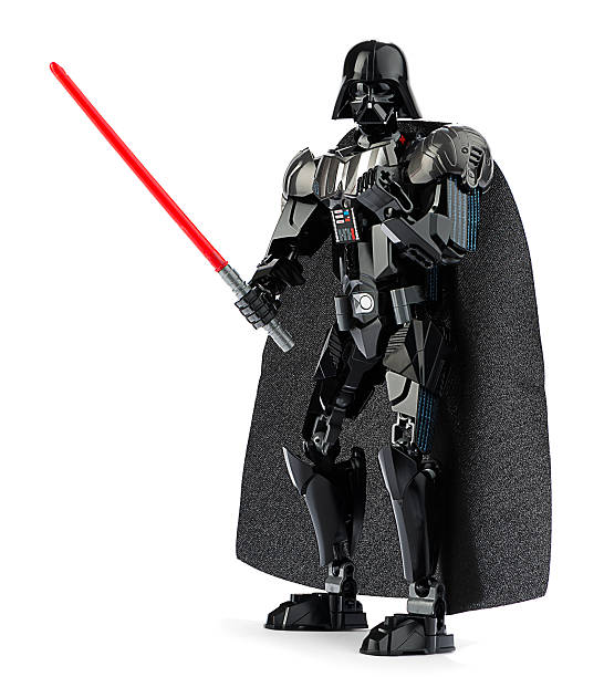 new lego darth vader with lightsaber - darth vader 個照片及圖片檔