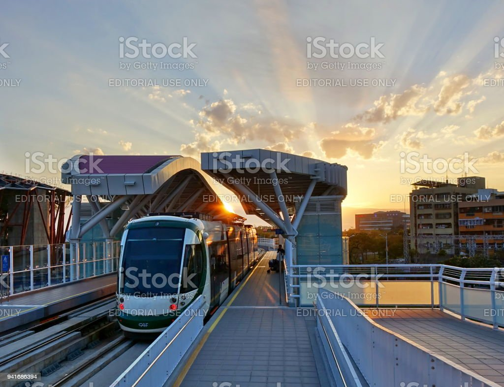 New Light Rail System in Taiwan stock photo
