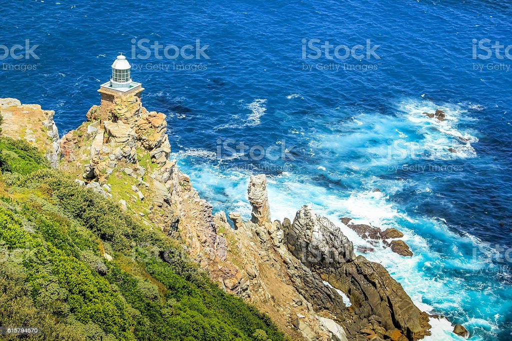 New lighthouse of Cape Point stock photo