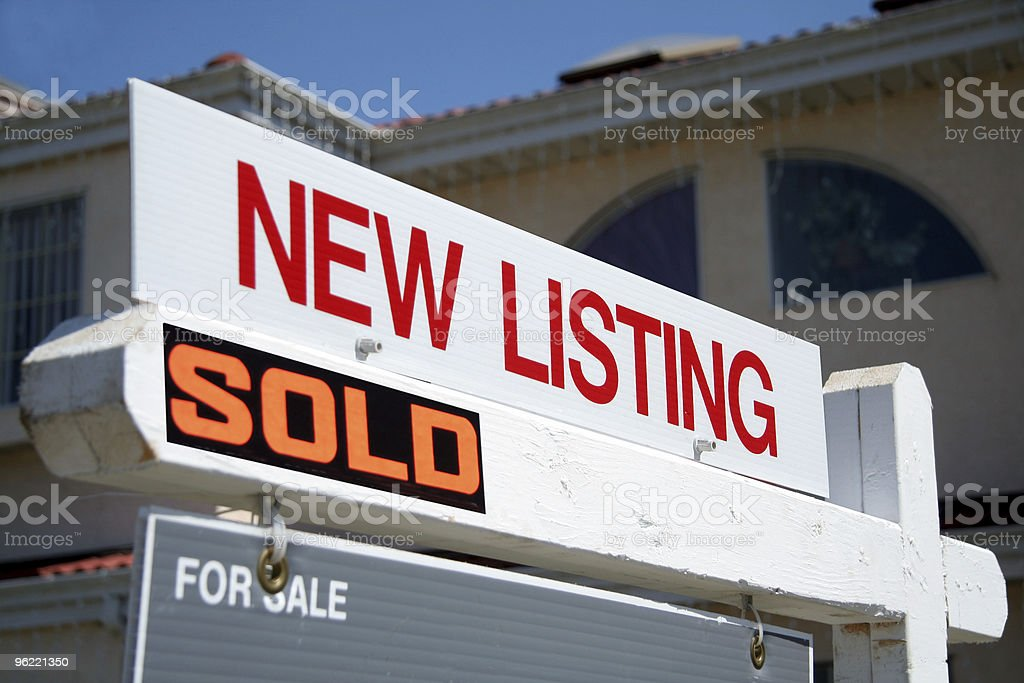 New listing sold sign royalty-free stock photo
