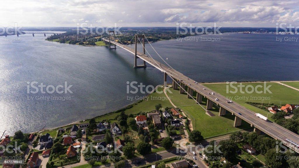 Neue kleine-Belt-Brücke aus Sicht der Drohne – Foto
