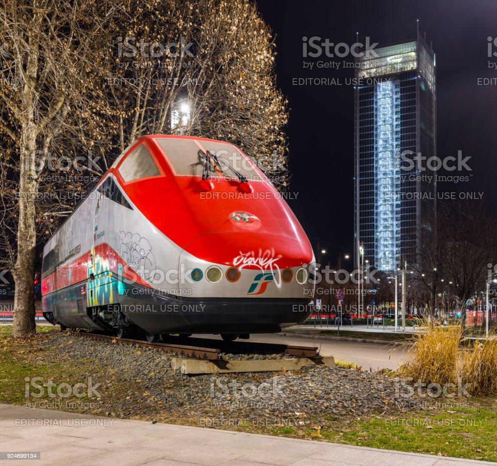 New Locomotive Representing The History Of Rail Transport
