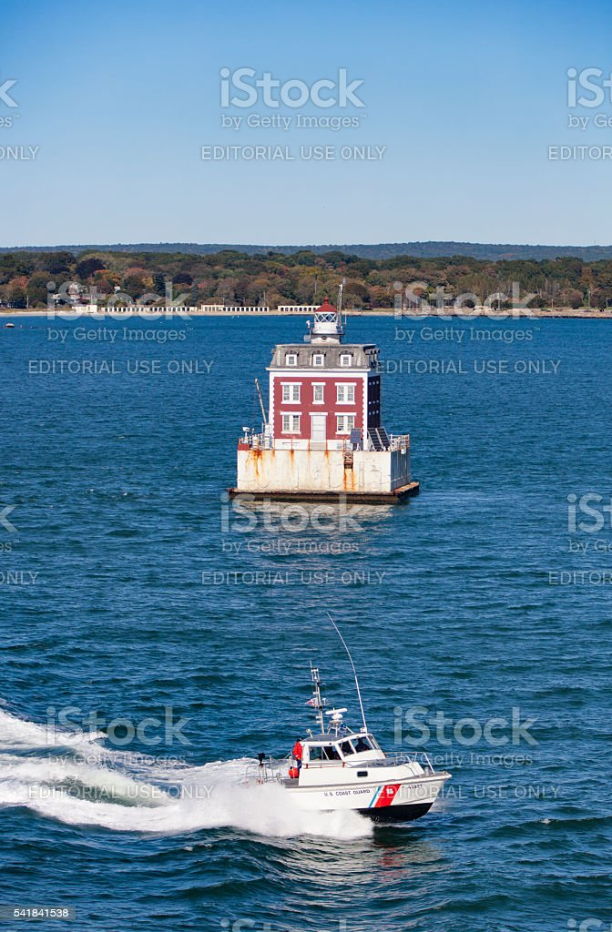 New London Connecticut Lighthouse stock photo