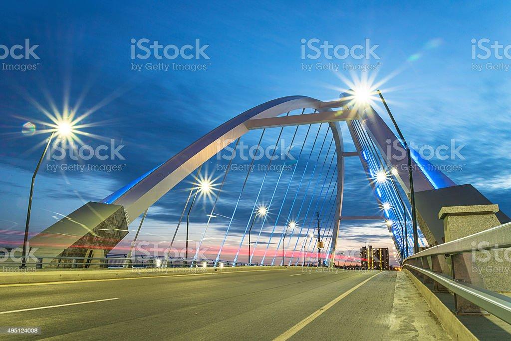 New Lowry Avenue Bridge in Northeast Minneapolis stock photo