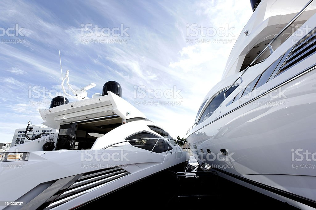 New Luxury Boats For Sale stock photo