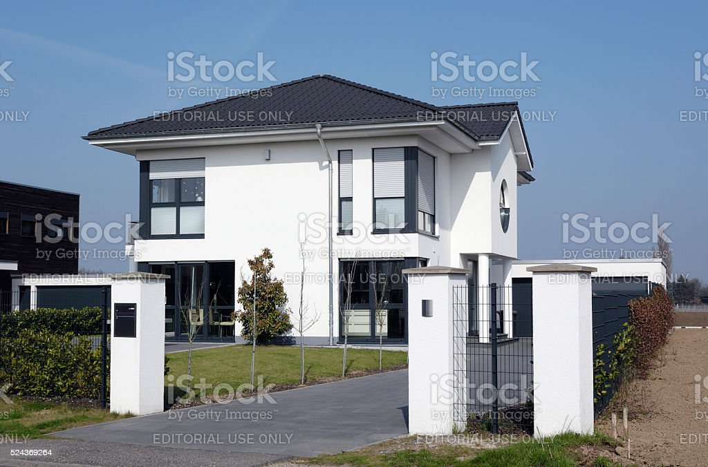 New luxury one family house stock photo