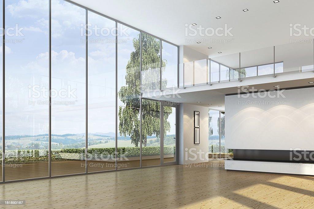 New Luxury Villa Interior royalty-free stock photo