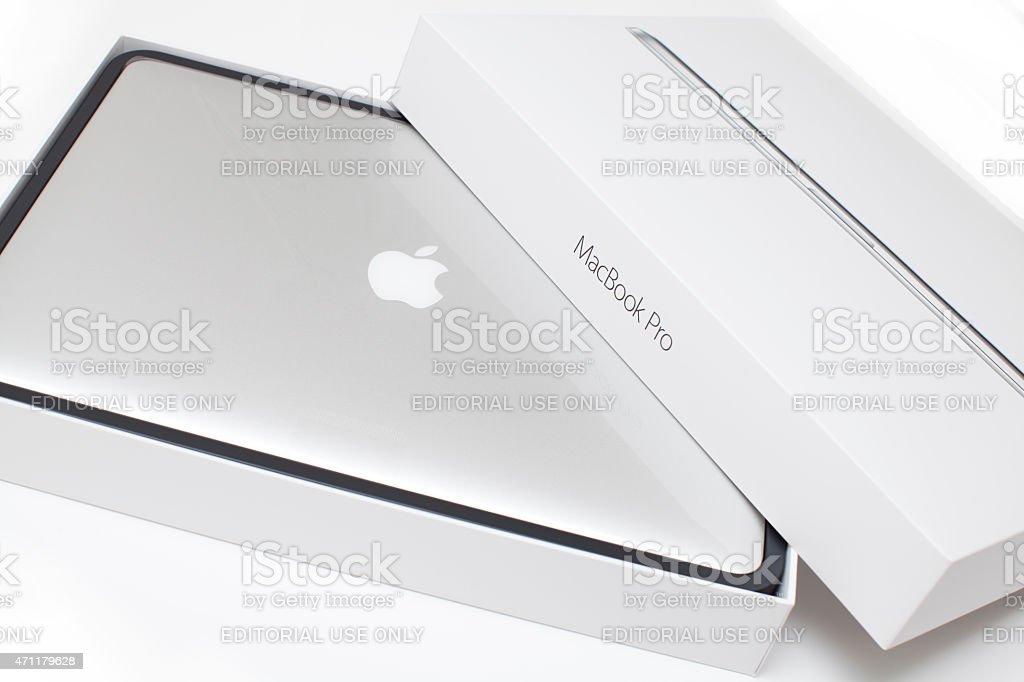 New MacBook Pro stock photo