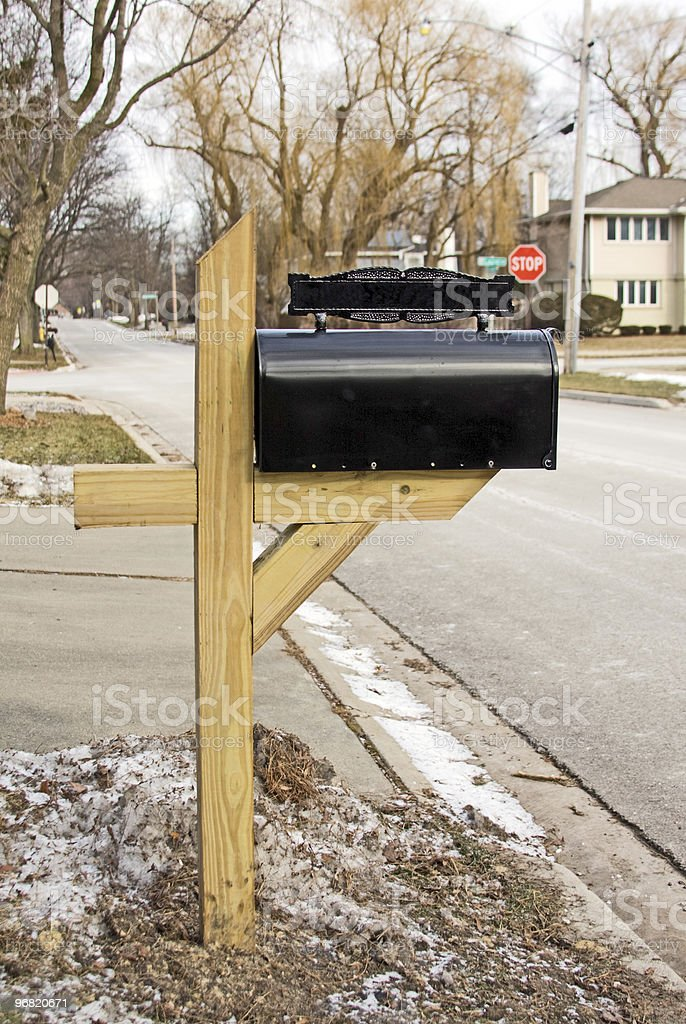 New Mail Box and Post stock photo