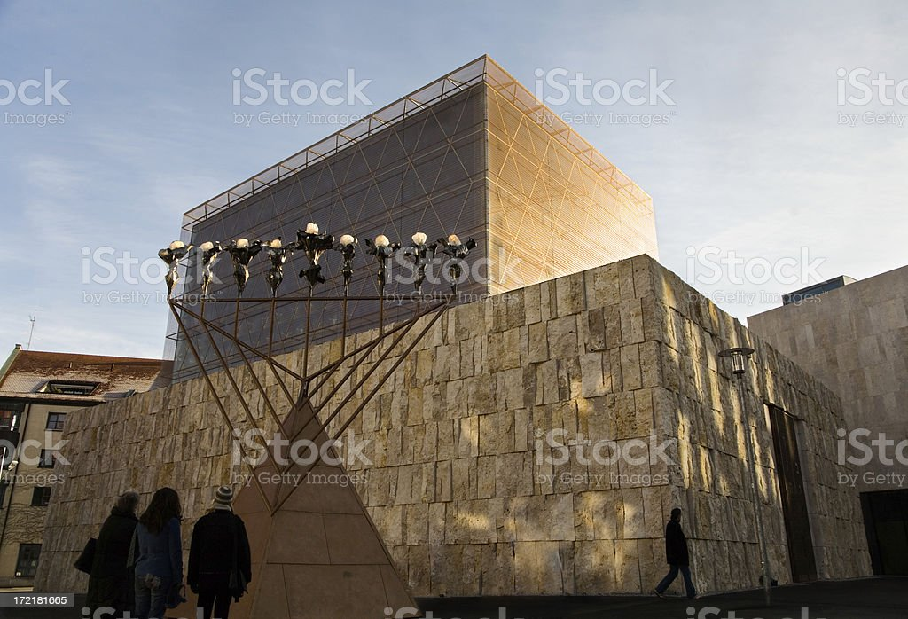 New main synagogue in Munich. stock photo