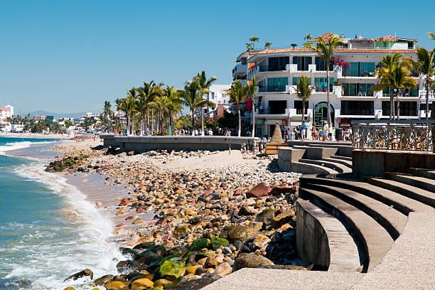 New Malecon Boardwalk, Puerto Vallarta stock photo