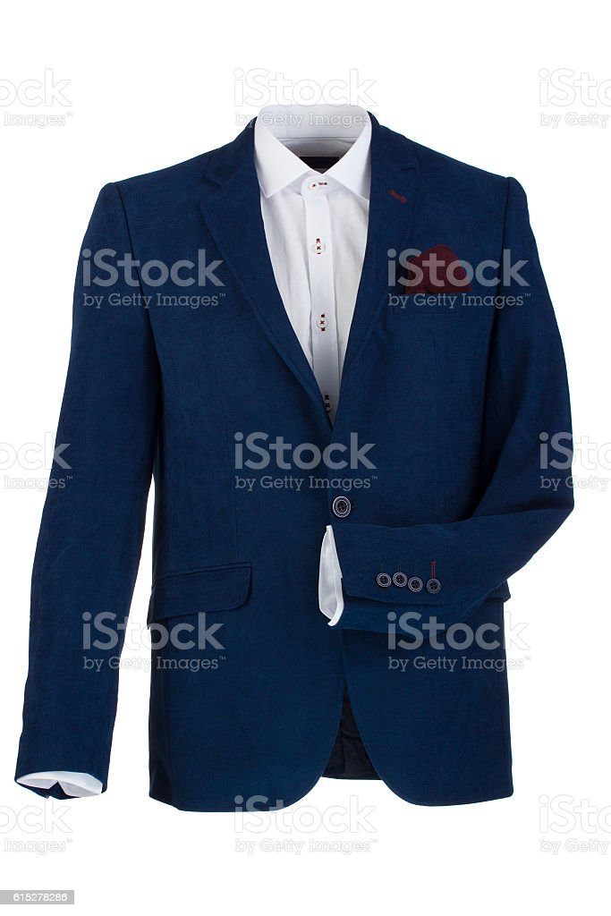 New man's shirt isolated over a white background stock photo