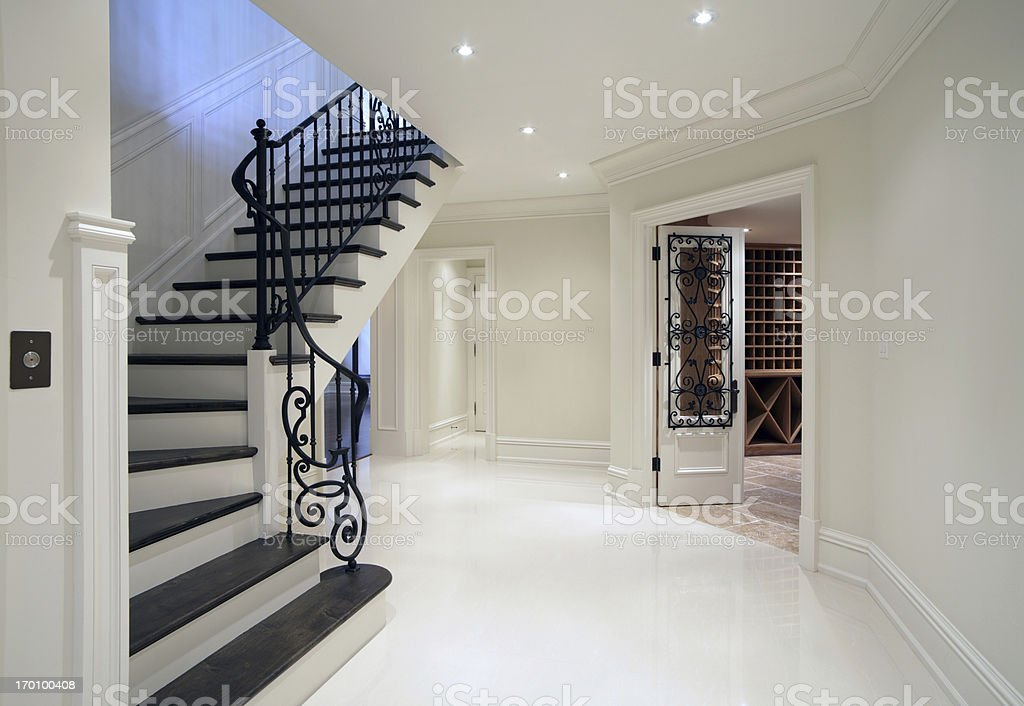 New Mansion Hallway royalty-free stock photo