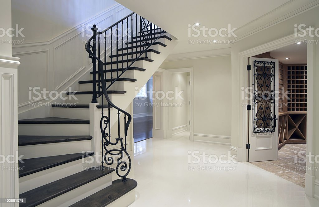 New Mansion Hallway stock photo