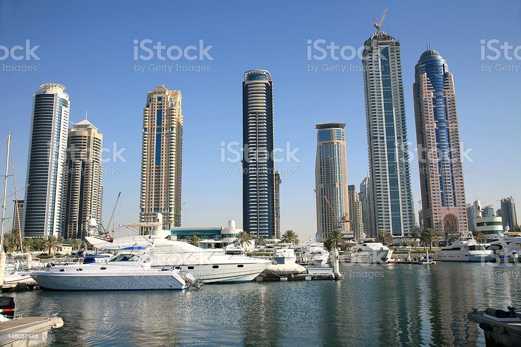 New Marina of Dubai royalty-free stock photo