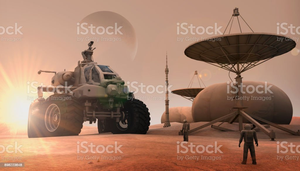New Mars Colony stock photo