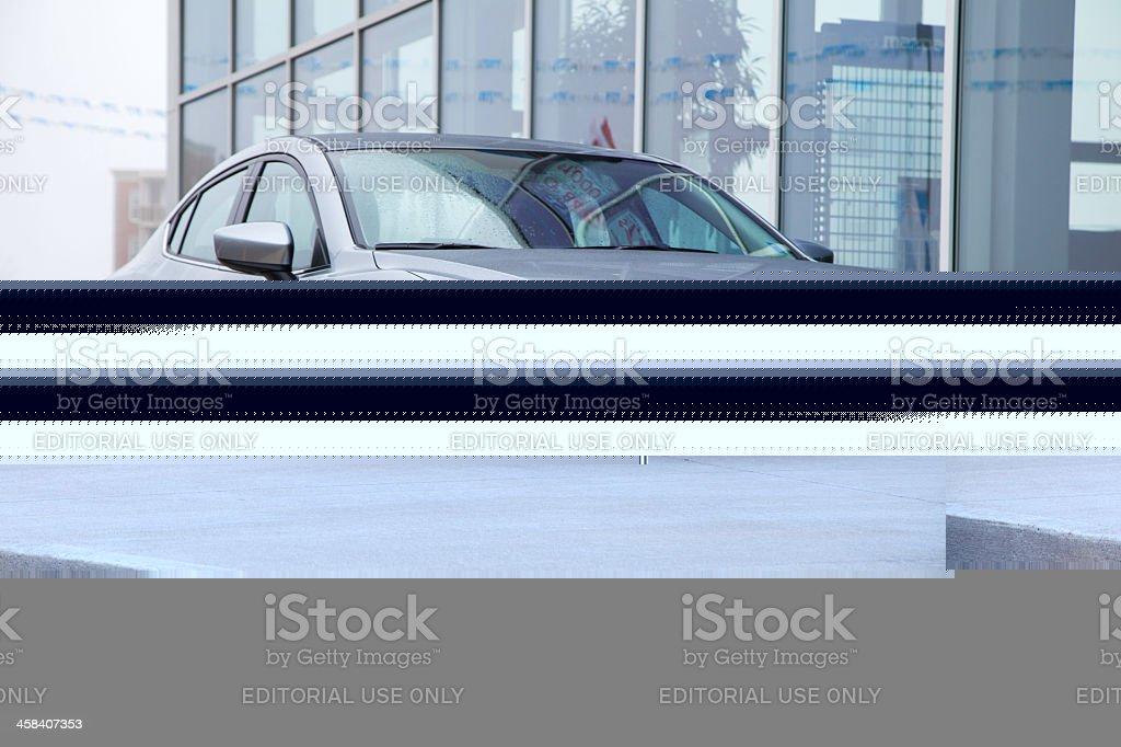 New Mazda 3 Sedan royalty-free stock photo