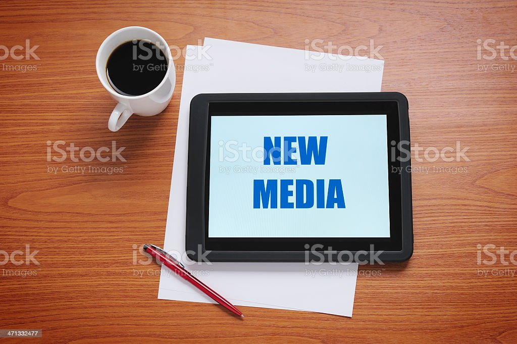 New Media on tablet computer royalty-free stock photo