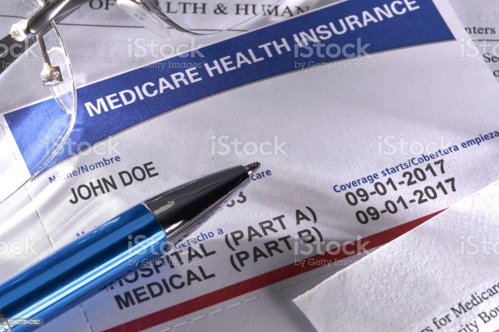Neuen Medicare Card für Versicherung medizinische Leistungen der sozialen Sicherheit – Foto