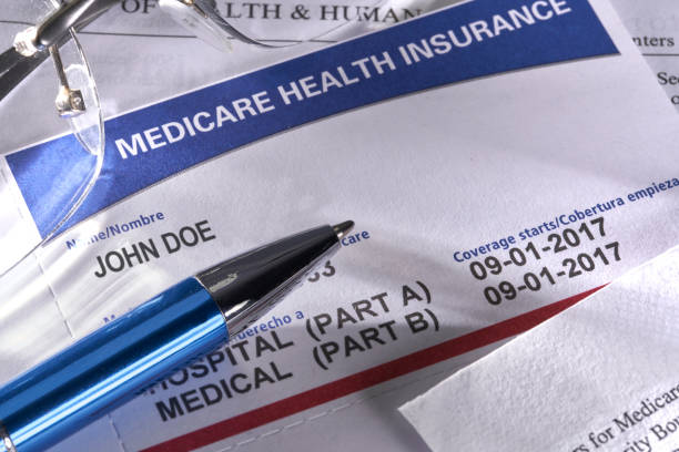 New Medicare Card for Social Security Insurance Medical Benefits stock photo