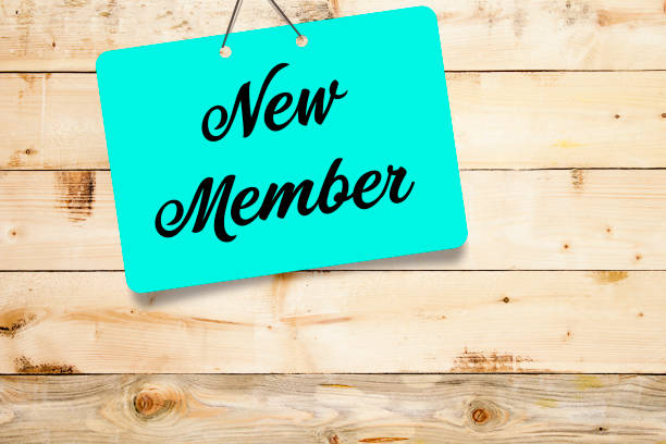 new member on wooden background new member on wooden background aboard stock pictures, royalty-free photos & images