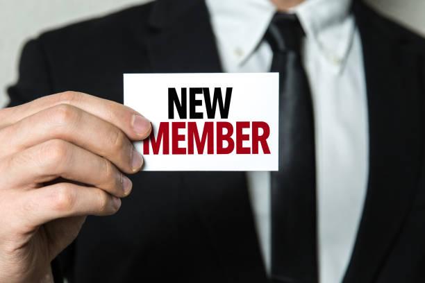 New Member stock photo