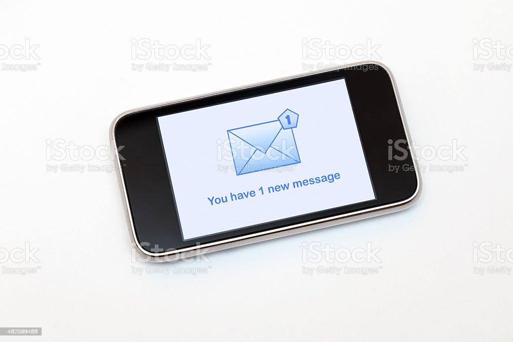 Neue Nachricht-Symbol auf dem Handy-Bildschirm – Foto