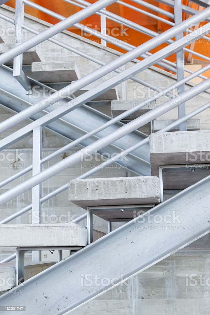 Concrete Block Staircase Macro Architecture Pictures, Images And Stock  Photos