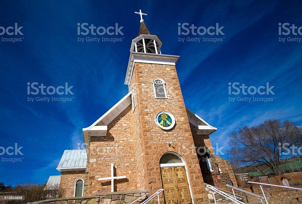 New Mexico Architecture: St Anthony's Catholic Church in Pecos stock photo