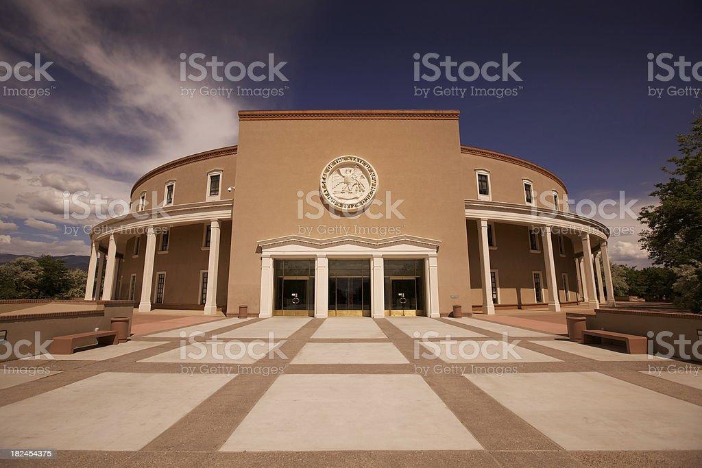 New Mexico capitol building in Santa Fe royalty-free stock photo